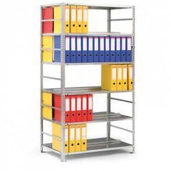 Regał na segregatory COMPACT, 7 półek, 2200x1250x600 mm, ocynk, podstawowy