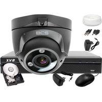 Zestawy monitoringowe, Zestaw do monitoringu: BCS-XVR0401+ 1x Kamera BCS-DMQE3200IR3+ Dysk 1TB + Akcesoria