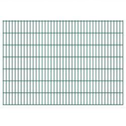 vidaXL Panele ogrodzeniowe 2D z słupkami 2008x1430 mm 30 m Zielone Darmowa wysyłka i zwroty