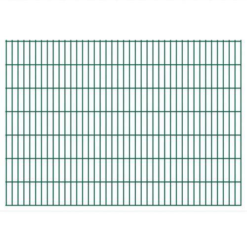 Przęsła i elementy ogrodzenia, vidaXL Panele ogrodzeniowe 2D z słupkami 2008x1430 mm 30 m Zielone