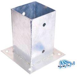 Podpora ze śrubami 90 x 90 mm ocynk