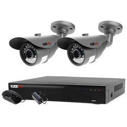 Zestaw 4w1, 2x Kamera HD/IR20, Rejestrator 4ch LV-XVR44SE chmura