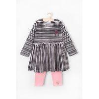 Pozostałe ubranka niemowlęce, Komplet dziewczęcy tunika+leginsy 5P3603