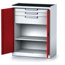 Szafa warsztatowa MECHANIC, 1170 x 920 x 500 mm, 2 półki, 2 szuflady, czerwone drzwi