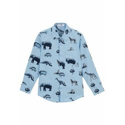 Koszula chłopięca z nadrukiem bonprix jasnoniebieski z nadrukiem
