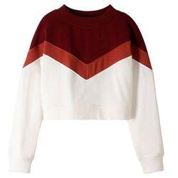 Krótka bluza dziewczęca bonprix czerwono-biały