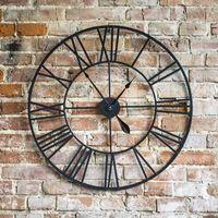 Zegary, Duży metalowy zegar ścienny RETRO 60cm