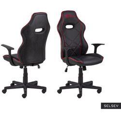 SELSEY Fotel gamingowy Nauders czarno-czerwony