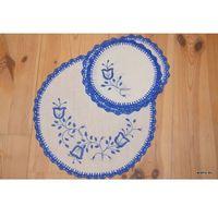 Serwetki, Haft kujawski - serwetki ręcznie haftowane - komplet 6+1 (kz-9)