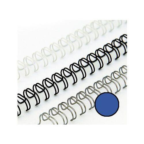 Grzbiety do bindownic, Grzbiety drutowe 6.4 mm, oprawa do 40 kartek, niebieskie