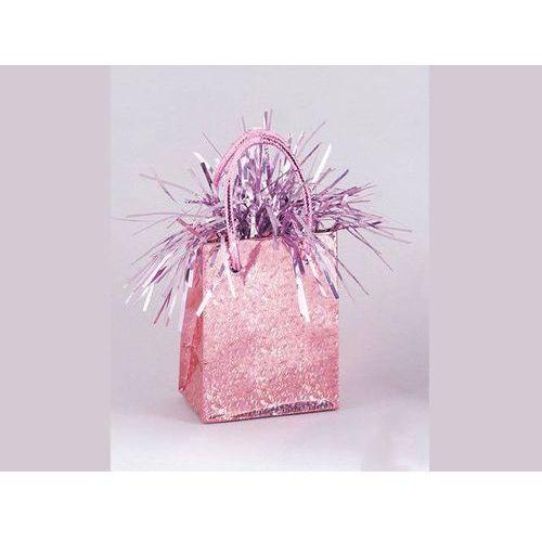 Opakowania prezentowe, Obciążnik do balonów napełnionych helem Mini torebka prezentowa różowa - 178 g.