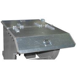 Pokrywa składana do przechylanego pojemnika, do poj. 0,75 m³, ocynkowanie. 2-str