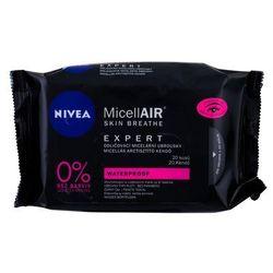 Nivea MicellAIR Expert Waterproof chusteczki oczyszczające 20 szt dla kobiet