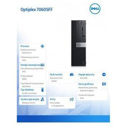 DELL Optiplex 7060SFF Intel Core i5/8GB/256GB SSD/Intel HD Graphics/W10P Czarny