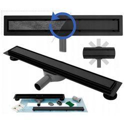 Czarny odpływ liniowy 100 cm obrotowy syfon Rea Pure Neo Pro UZYSKAJ 5 % RABATU NA ZAKUP
