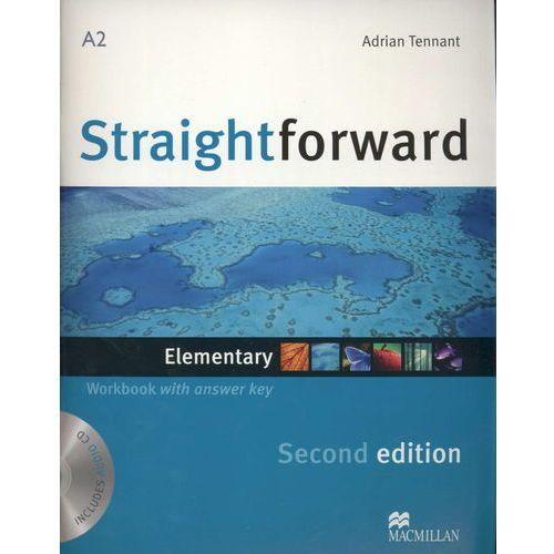 Książki do nauki języka, Straightforward Elementary, Second Edition, Workbook (zeszyt ćwiczeń) with Answer Key and CD (opr. miękka)