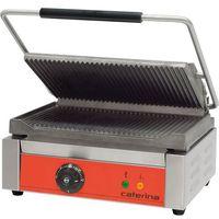 Grille gastronomiczne, Kontakt grill elektryczny, ryflowany, 2,2 kW, 390x390x195 mm | CATERINA, PANINI
