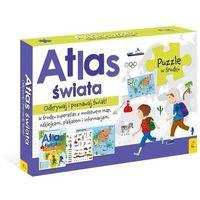 Puzzle, Pakiet Atlas Świata: Atlas. Plakat z mapą. Puzzle