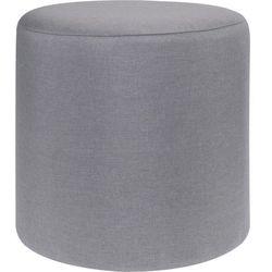 Pufa bawełniana, siedzisko, podnóżek, szary - 35 x 35 cm