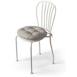 Dekoria Siedzisko Adam na krzesło, beżowo-szary szenil, fi 40 × 8 cm, Vintage