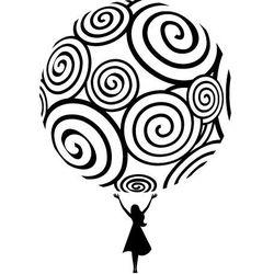 Naklejka dekoracyjna abstrakcje 73 - Cały Świat należy do Ciebie!