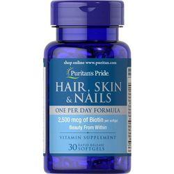 Włosy skóra paznokcie Hair Skin Nails 30 kapsułek Puritan's Pride