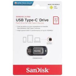 Pendrive SanDisk Ultra 32GB USB-C SDCZ450-032G-G46- natychmiastowa wysyłka, ponad 4000 punktów odbioru!