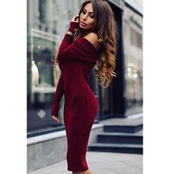 Sukienka SARIFA BORDO