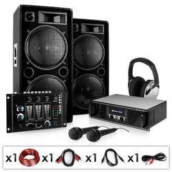 """Electronic-Star Zestaw PA """"Block Party"""" głośniki mikrofony wzmacniacz 2000W"""