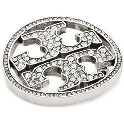 Broszka TORY BURCH - Pave Logo Pin 70438 Silver/Crystal 020