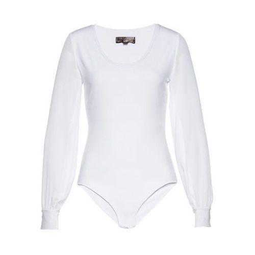 Bluzki, Body shape z szyfonowymi rękawami bonprix biały