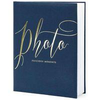 """Fotoalbumy, Album na zdjęcia """"Precious Moments"""", PartyDeco, 20 x 24,5 cm, czarny, 22 kartki"""