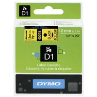Papiery fotograficzne, DYMO Tape cassette dymo d1 12mmx7m black/yellow 45018