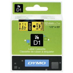 DYMO Tape cassette dymo d1 12mmx7m black/yellow 45018