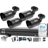 Zestawy monitoringowe, Zestaw monitoringu BCS kabel UTP Rejestrator 4x BCS-TQE4200IR3-G Dysk twardy 1TB