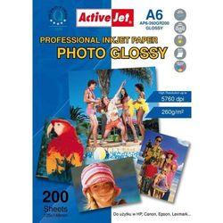 Activejet Papier fotograficzny (AP6-260GR200) 200 ark Darmowy odbiór w 21 miastach!