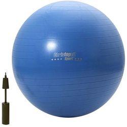 Piłka gimnastyczna treningowa niebieska 75cm Christopeit