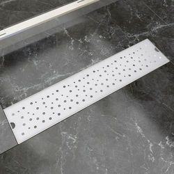 vidaXL Kratka odpływowa, liniowa, 530x140 mm, wzór w kropki, stal nierdzewna Darmowa wysyłka i zwroty