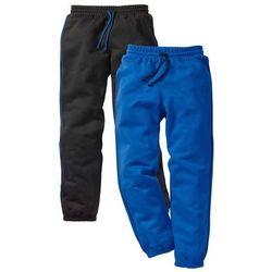 Spodnie chłopięce dresowe (2 pary) bonprix czarny + lazurowy niebieski