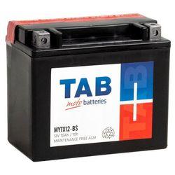 Akumulator motocyklowy TAB YTX12-BS (MYTX12-BS) 12V 10Ah 130A L+