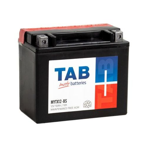 Akumulatory do motocykli, Akumulator motocyklowy TAB YTX12-BS (MYTX12-BS) 12V 10Ah 130A L+