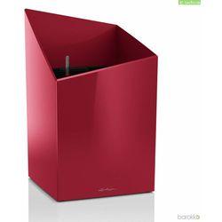 Donica Lechuza Cursivo Premium 30 - czerwona, połysk - czerwony