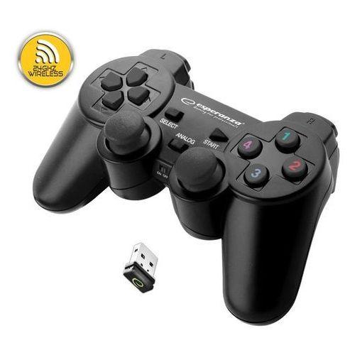 """Gamepady, Gamepad bezprzewodowy 2.4GHz PS3/PC USB Esperanza """"Gladiator"""" czarny"""