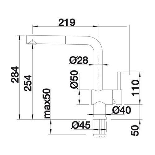 Baterie do kuchni, Bateria Blanco Linus 516692