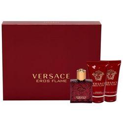 Versace Eros Flame zestaw Edp 50 ml + Balsam po goleniu 50 ml + Żel pod prysznic 50 ml dla mężczyzn