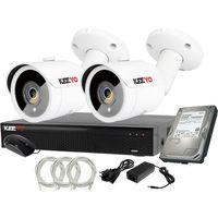 Zestawy monitoringowe, Plug&Play Zestaw do monitoringu IP Rejestrator LV-NVR4415S-4P + 2x Kamera LV-IP2M3TFE + 1TB