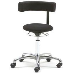 Krzesło aktywne TWIST, obrotowe oparcie, tkanina, czarny