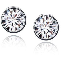EXCLUSIVE Kolczyki okrągłe kryształowe - kryształowe
