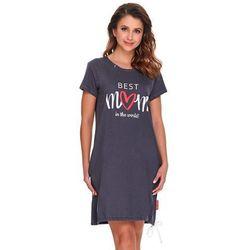 Koszula nocna ciążowa i do karmienia TCB.9900 - Best Mom in the worl Graphite