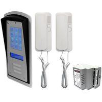 Domofony i wideodomofony, Zestaw 2-rodzinny panel domofonowy wielorodzinny z szyfratorem RADBIT BRC10 MOD